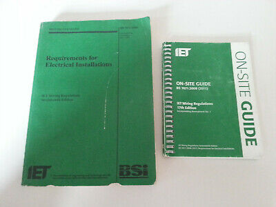 BS 7671 & OSG 2011 17th Edition Green On Site Guide & IET Wiring Regulations