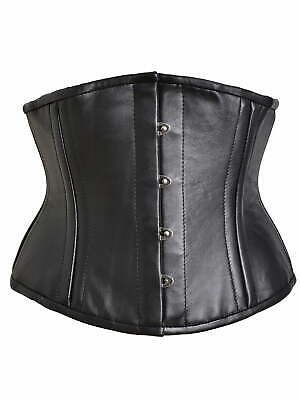 Killer Corsets Leather Waist Cincher Black