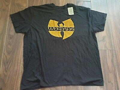 Mens Vintage Size XL Wu-Tang Clan Black Tshirt Urban Renewal Band Tshirt
