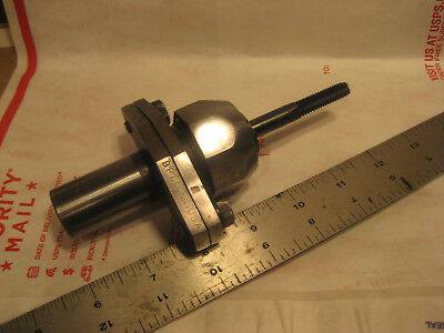 """VINTAGE MACHINIST ADJUSTABLE CENTER DRILL CHUCK G1/4-3/8 JAWS 1"""" Arbor approx.4"""""""