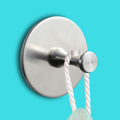 Heavy Duty Stainless Steel Mirror Surface Self Adhesive Sticky Wall Hooks
