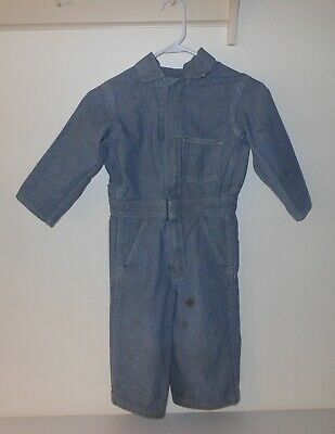 Vintage Children's Key Coveralls Overalls Herringbone Denim Engineer Boys-Size 8