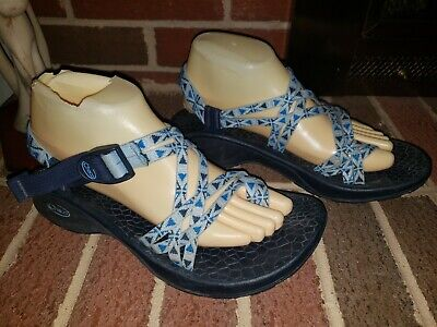 Chaco Blue Strappy Sandals Womens Size 9