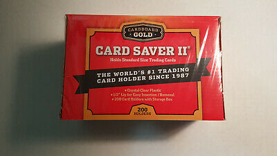 200 Ct Box Cardboard Gold Card Saver 1 For Psa Grading Submissions