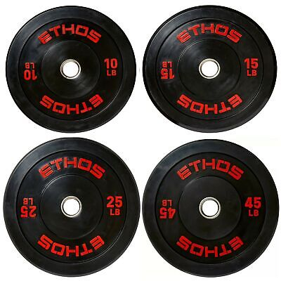 Olympic Rubber Bumper Plate Ethos 35 lb