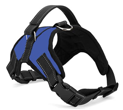 No Pull Dog Pet Harness Adjustable Control Vest Dogs Reflective XS S M XXL Blue