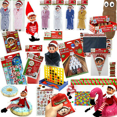 Naughty Elf Accessories Props Clothes Ideas Advent Kit Toy Decor Christmas Games