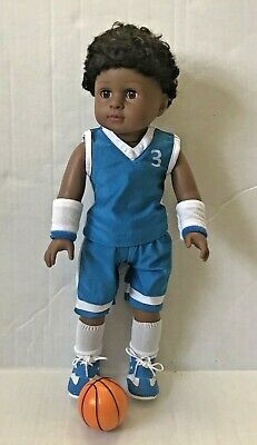 18 in American Fashion Works AFW Isaac doll black hair brown eyes new undressed
