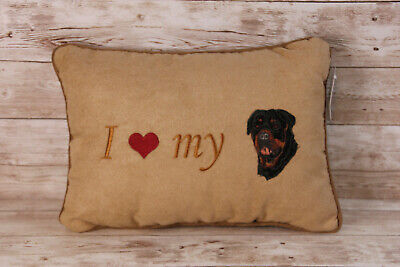 """Pawfect Gifts Plush Pillow I LOVE MY """"PET"""" Multiple Breeds Cats Dogs 25/% OFF 2+"""