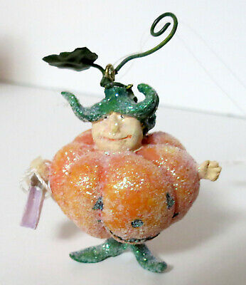 Krinkles By Patience Brewster Dept.56 Pumpkin Trick Or Treating Ornament