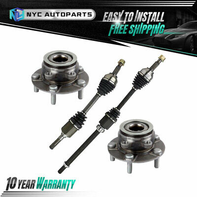 AutoShack DSK120222656 Pair of 2 Front Driver and Passenger Side CV Axle Drive Shaft Assembly Replacement for 2008 2009 2010 2011 2012 2013 Nissan Rogue AWD 2.5L