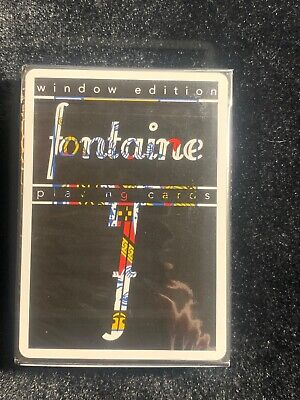 Playing Cards 1//2000 Brand New 100/% AUTHENTIC Fontaine Futures Window Edition