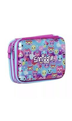 ** SALE ** BRAND NEW SMIGGLE Squad Scented Hardtop Pencil Case Pink Girls dolly