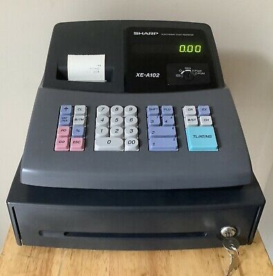 SHARP XE-A101 Electronic Cash Register Complete With Till Rols And Free P/&P