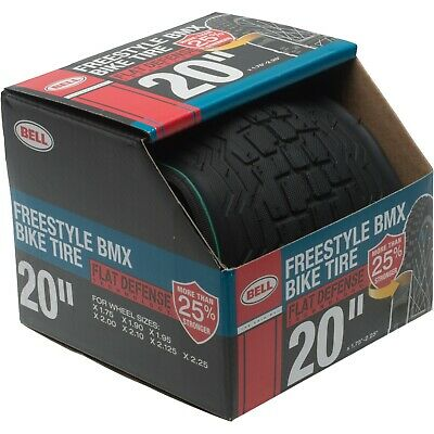 """Bell Freestyle BMX Bike Tire 20/"""" x 2.0/"""" Black Air Guard Anti-Puncture New in Box"""