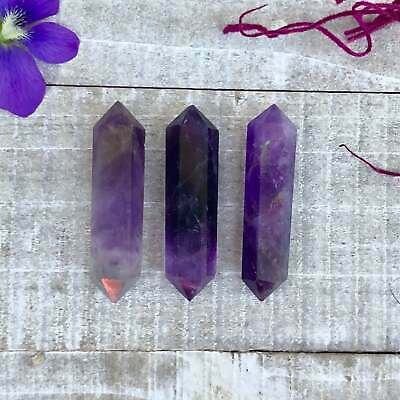 3 pcs Hematite Double terminated Crystals Perfect for Crystal Grid /& Terrarium