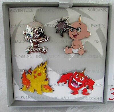 Pixar Party 4 Pin Set Limited Of 1100 Jack Jack The Incredibles