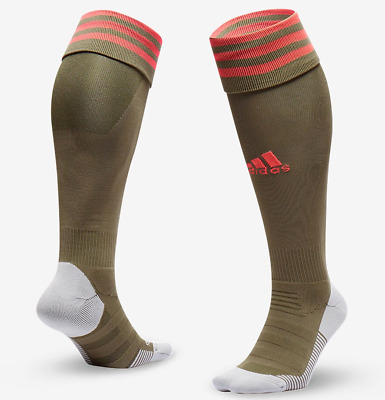 Adidas Adisock 18 Football Climacool Team Sports Socks - Khaki Dw7381 Uk6.5-8