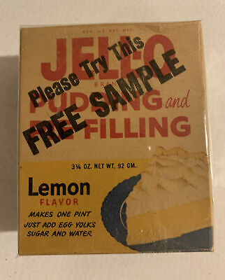 VINTAGE 1950/'s JELL-O PUDDING /& PIE FILLING  Coconut Cream Full Box OLD STOCK !!