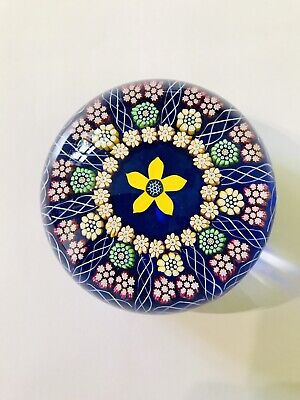 Stunning Perthshire Lamp Work Flower Concentric Millefiori Paperweight 125 00 Picclick Uk