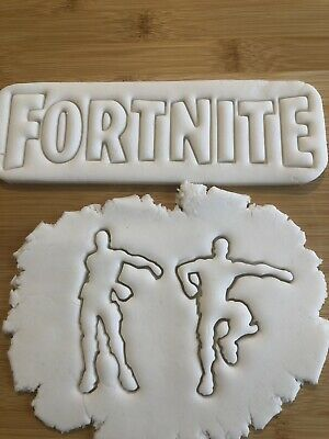 Fortnite  Floss  Set of 4 Pastry Fondant,cakes Cutters Ideal For Biscuit