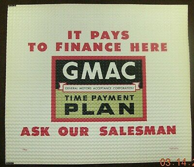 """/"""" NEW NEVER USED /""""!! Long Gone /""""SMARTLEASE by GMAC/"""" Dealership Booster Plate"""