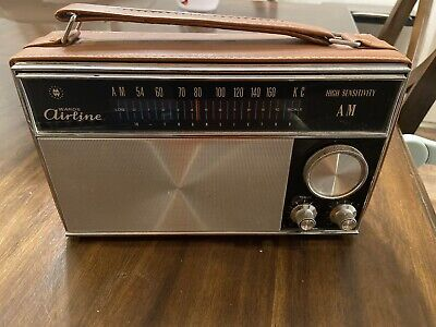 Montgomery Ward Airline Solid State Stereo Portable AMFM Radio With 8 Tract Player