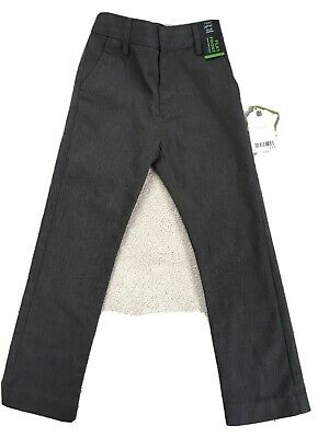 Next New School Flat Front Slim Fit Boys Grey Trousers Age 6