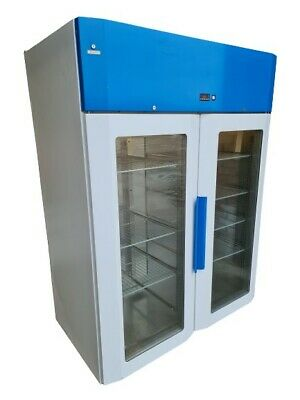 Labcold Advanced Pharmacy Fridge, Double Glass Door Upright Display Med Chiller