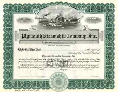 19__ Plymouth Steamship Co Stock Certificate