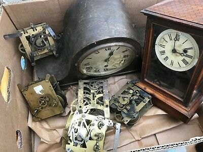 Old antique clocks for spares or repairs