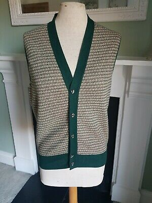 Vintage Jaeger Knit Tank Top Sweater Vest 100 Wool 1970s 1930s 1940s Dark Green 30 00 Picclick Uk