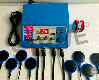 Physiotherapy Chiropractic Machine 4 channel Continuous & Pulse Massager Recover