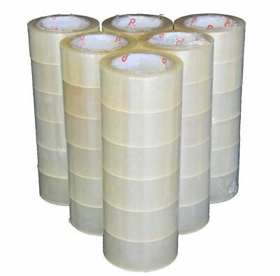 "36 Rolls 2"" x 220 Yards (660 ft) Clear Carton Packaging Sealing Box Packing Tape"