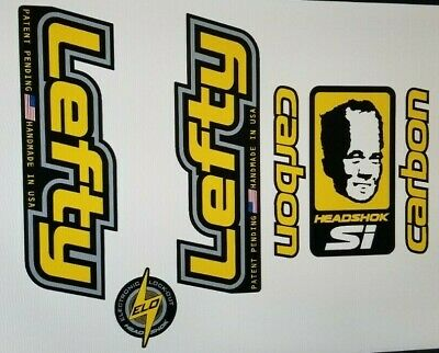 Sticker Decal Set for old style Cannondale Lefty ELO DLR ou jaune-Chrome /&