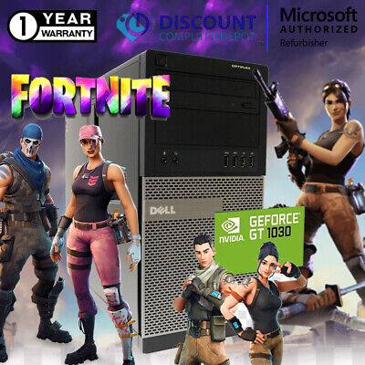 Dell Desktop Gaming Computer 16GB i5 SSD+HDD Fortnite Nvidia 1030 Windows 10 PC