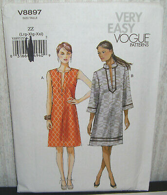 Vogue Ladies Easy Sewing Pattern 8897 Pullover Dresses Vogue-8897-M