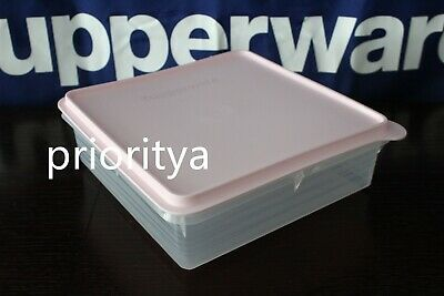 TUPPERWARE 9 X 9 Snack Stor Container Passion Red Seal Color Brand New Cold Cuts