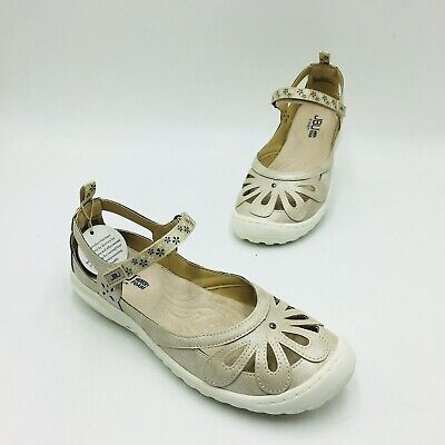 JBU Jambu Wildflower Encore Mary Jane Cream Shimmer 9.5W NEW 690-856