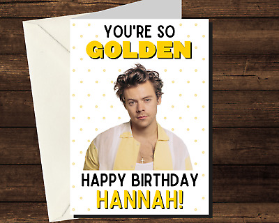 Harry Styles Ballerina Outfit Birthday Card A5 Personalised own words