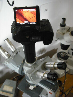 AMERICAN OPTICAL ao 4 Canon FULL FRAME 2 trinocular 20.5mm microscope adapter