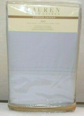 NIP Standard LakeSide Living Pillowcase Set 300 Thread Count BlueTan White Plaid