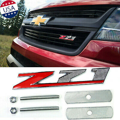 AxleZx 3D Chrome Metal Z71 Off-Road Logo Car Front Grille Emblem OEM 4X4 Grill Badge for GMC Chevrolet Silverado Sierra Tahoe Suburban Black/&Red