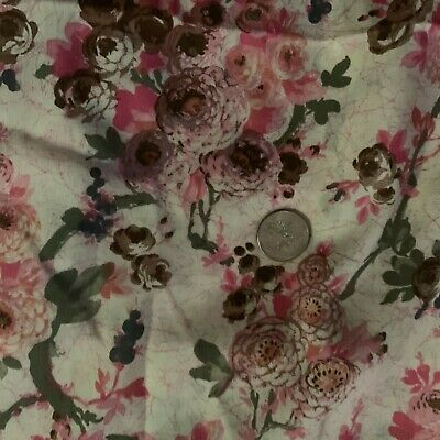 Vintage Fabric Asian Stretch Nylon Lorber Industries California PINK DOUBLE