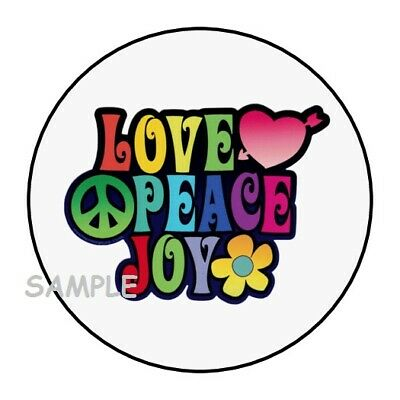 """30 PEACE LOVE CRAWFISH ENVELOPE SEALS LABELS STICKERS PARTY FAVORS 1.5/"""" ROUND"""