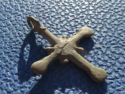 Ancient bronze cross Kievan Rus 10-12 century #1604