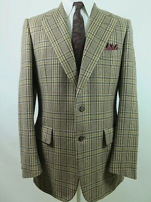 Chester Barrie For Austin Reed Sport Coat 100 Cashmere Plaid 44long England 125 95 Picclick