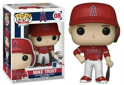 Funko Pop! Baseball: MLB - Mike Trout Los Angeles Angels Of Anaheim #08 Red Uni