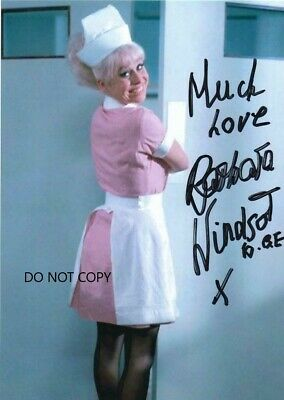 AP Barbara Windsor 4 nude carry on print signed 7x5 glossy photos