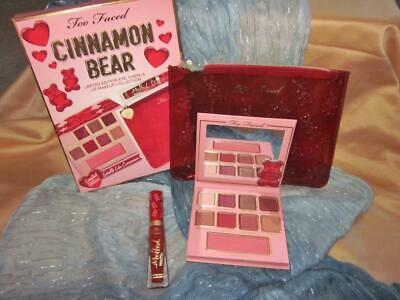 Too Faced☆Cinnamon Bear Eye & Cheek Palette☆Melted Lips☆Makeup Bag☆Ships Free